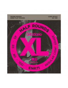 D'addario – ENR71 – Half Rounds Bass Regular Light 45-100
