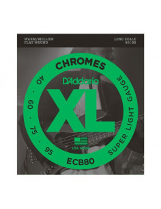 D'addario – ECB80 – Chromes Bass Light 40-95