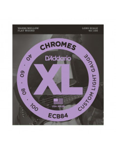 D'addario – ECB84 – Chromes Bass Custom Light 40-100