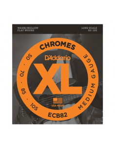 D'addario – ECB82 – Chromes Bass Medium 50-105