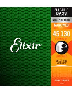 Elixir,14202,Nanoweb Nickel Steel 5-Strings Light 45-130