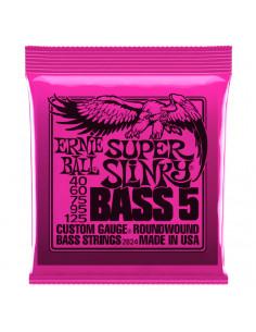 Ernie Ball – 2824 – Super Slinky 5-Strings 40-125
