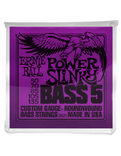 Ernie Ball – 2821 – Power Slinky 5-Strings 50-135