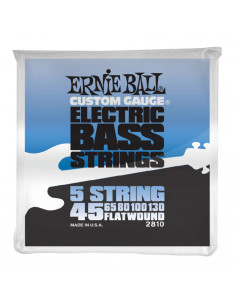 Ernie Ball – 2810 – Flatwound 5-Strings 45-130
