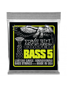Ernie Ball – 3836 – Coated  Slinky 5-Strings 45-130