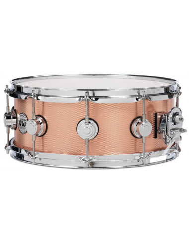"""DW,collector series snare knurled copper 14""""x 5.5"""""""