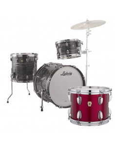 Ludwig - L84023AX27 - Classic Maple Downbeat Standard Wrap Red Sparkle