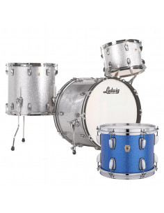 Ludwig - L84233AX32WC - Classic Maple Fab Standard Wrap  Blue Sparkle