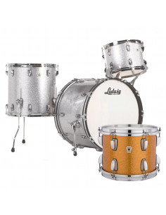 Ludwig - L84233AX33WC - Classic Maple Fab Standard Wrap  Gold Sparkle