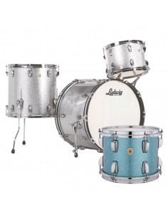 Ludwig - L84233AX37WC - Classic Maple Fab Standard Wrap  Teal Blue Sparkle