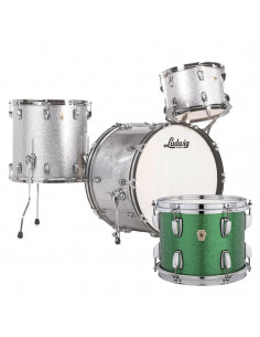 Ludwig - L84233AX54WC - Classic Maple Fab Standard Wrap  Green Sparkle