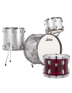 Ludwig - L84233AX61WC - Classic Maple Fab Standard Wrap  Red Swirl