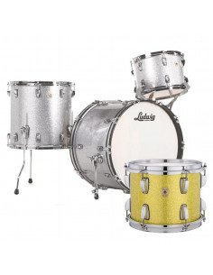 Ludwig - L84233AXT9WC - Classic Maple Fab Standard Wrap  Yellow Glitter
