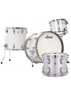Ludwig - L84433AX0SWC - Classic Maple Pro Beat  Standard Wrap Silver Sparkle