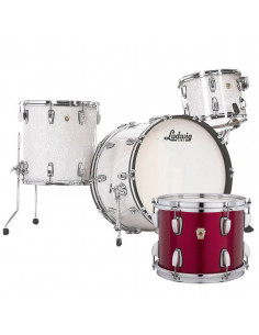 Ludwig - L84433AX27WC - Classic Maple Pro Beat  Standard Wrap Red Sparkle