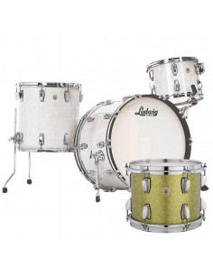 Ludwig - L84433AX36WC - Classic Maple Pro Beat  Standard Wrap Olive Sparkle