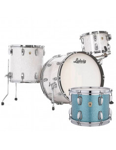 Ludwig - L84433AX37WC - Classic Maple Pro Beat  Standard Wrap Teal Blue Sparkle