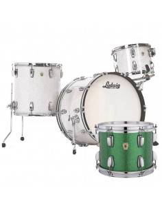 Ludwig - L84433AX54WC - Classic Maple Pro Beat  Standard Wrap Green Sparkle