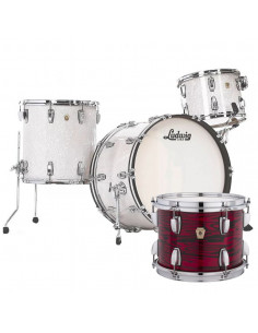Ludwig - L84433AX61WC - Classic Maple Pro Beat  Standard Wrap Red Swirl