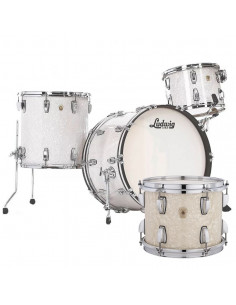 Ludwig - L84433AXNMWC - Classic Maple Pro Beat  Standard Wrap Vint White Marine Pearl