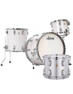Ludwig - L84433AXT5WC - Classic Maple Pro Beat  Standard Wrap Silver Mist Sparkle