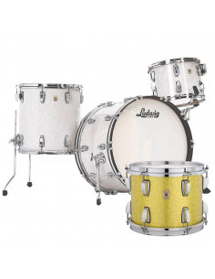 Ludwig - L84433AXT9WC - Classic Maple Pro Beat  Standard Wrap Yellow Glitter
