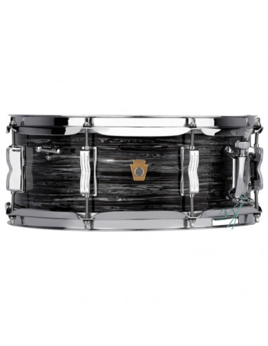 """Ludwig - LS9081Q - 5.5""""x14"""" Legacy Maple """"Jazz Fest"""" Snare Drum - Vintage Black Oyster"""