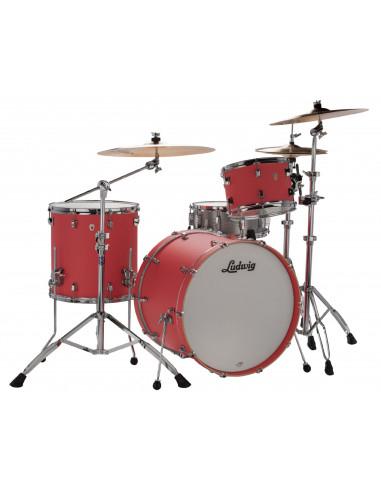 "Ludwig - L24023TX3U - NeuSonic - 8""x12"", 14""x14"", 14""x20"" - Coral Red"