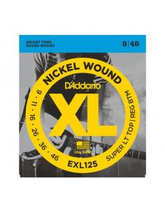 D'addario - Exl125 Nickel Wound Electric Guitar Strings Super Light Top/ Regular Bottom 9-46