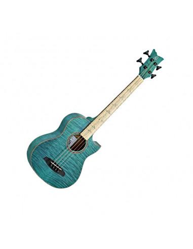 Ortega, WALKER-25TH 25th Anniversary, Acoustic Bass Flame Mahogany Electro