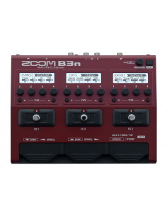 ZOOM,B3n Bass Effects & Amp Simulator Pedal