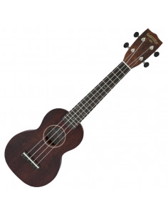 Gretsch, G9100-L Soprano Long-Neck Ukulele with Gig Bag,Ovangkol FB, Vintage Mahogany Stain