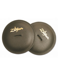 Zildjian - Cymbal pads, leather, black, (pair)