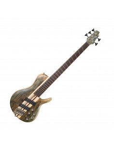 Cort - A5PSCFFOPTG - basse A5 Plus SCMS Open Pore Trans Grey nat 5 cordes
