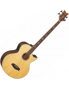 Ortega - KTSM-4 Signature Acoustic Bass Epicea/Acajou Flamé Massif El Ctw High Gloss incl bag