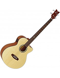 Ortega - D538-4 Deep serie Acoustic Bass Epicea/Acajou Massif El Ctw Open Pore incl bag