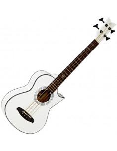 Ortega,DWALKERWH Deep Travel Serie Acoustic Bass Acajou/Acajou El Ctw High Gloss White incl bag