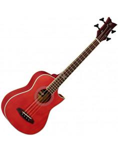 Ortega,DWALKERRD Deep Travel Serie Acoustic Bass Acajou/Acajou El Ctw High Gloss Red incl bag