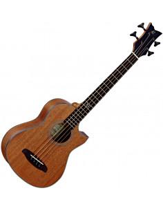 Ortega,D-WALKER-MM Deep Travel Serie Acoustic Bass Acajou/Acajou El Ctw High Gloss incl bag