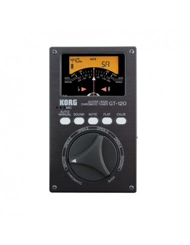 Korg - Gt120 Guitar / Bass Chromatic Tuner With Analog Meter
