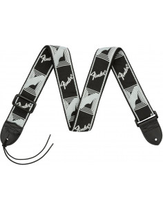 "Fender - Fender 2"" Monogrammed Strap,Black/Light Grey/Dark Grey"