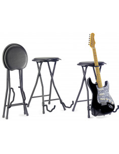 Stagg - TABOURET GUITARE+STAND,PLIABLE