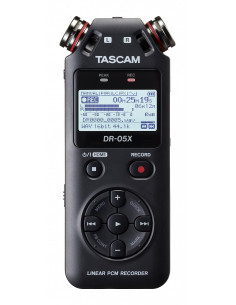 Tascam - DR05X handheld stereo recorder,omni-directional microphones, USB Interface functionallity