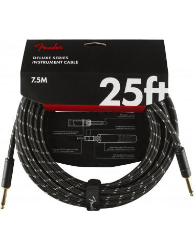 Fender - Deluxe 25' instrument cable Black Tweed