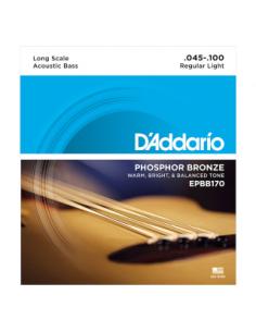 D'Addario - EPBB170, Long Scale 45-100,Phosphor Bronze