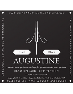 Augustine - NOIR Noir Faible /Nylon Clair-Filé Argent