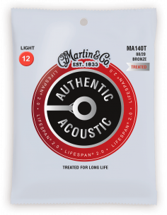 Martin - Cordes Authentic Treated, Light, 80/20