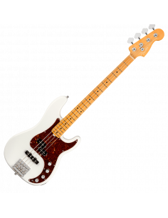 Fender, Am Ultra Precision Bass, Maple, Arctic Pearl