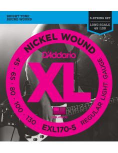 D'Addario,EXL170-5,Light Long scale,45-130