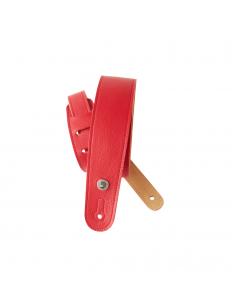 D'Addario,20GL02 Sangle en cuir étroite pour guitare D'Addario, rouge